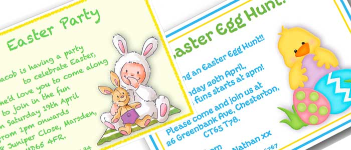 Easter party invitation cards