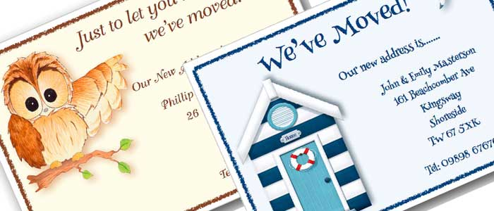 Personalised House Moving Cards
