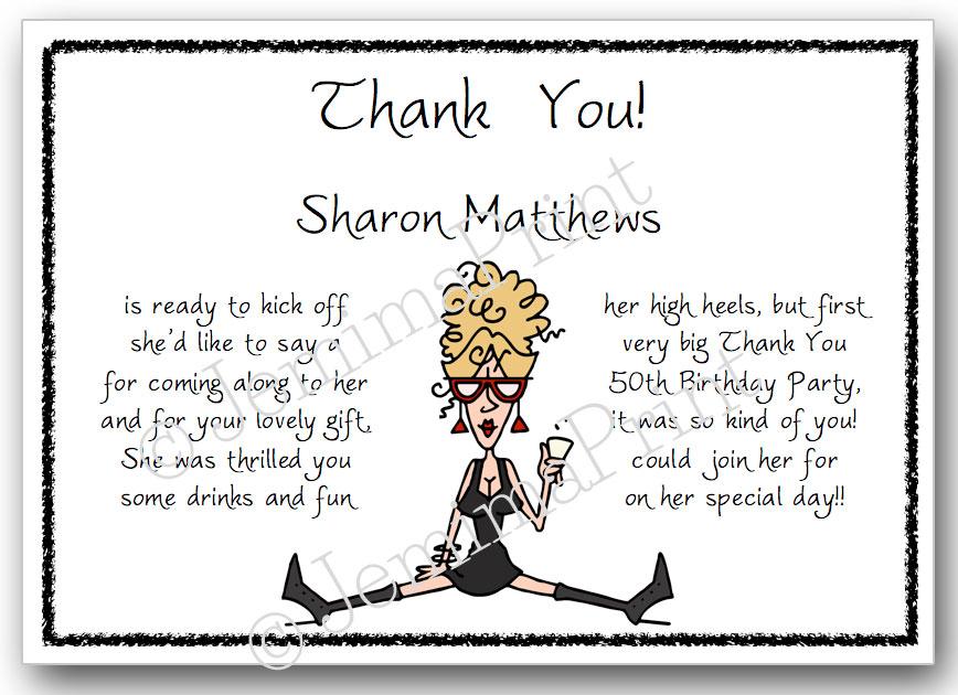 Black Dress Lady Thank You Cards