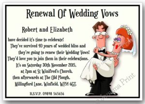Renewal Of Wedding Vows Invitations
