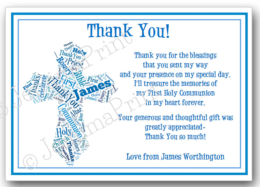 first holy communion confirmation thank you word art jemima print