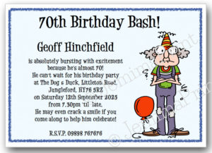 Balloon Man Birthday Invitations