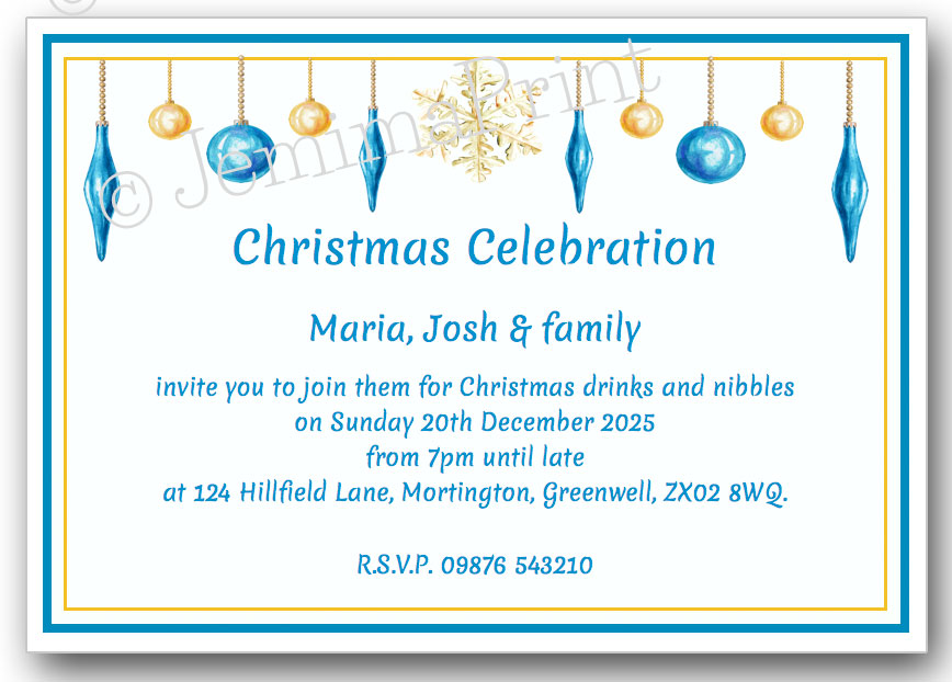 Christmas Party Invitations Jemima Print